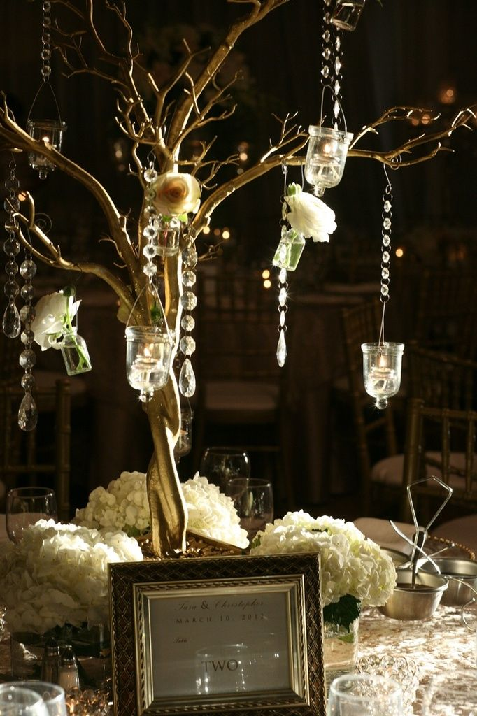 branchage manzanita centre de table