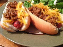 Nikki's Notes: Hubby says it's not authentic since it has tomato paste, but it was very tasty! Coney Island Chili Dog Sauce