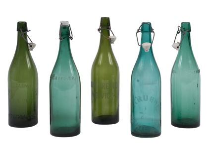 VINTAGE BOTTLE //I just love blue/aqua/green glass of all types.