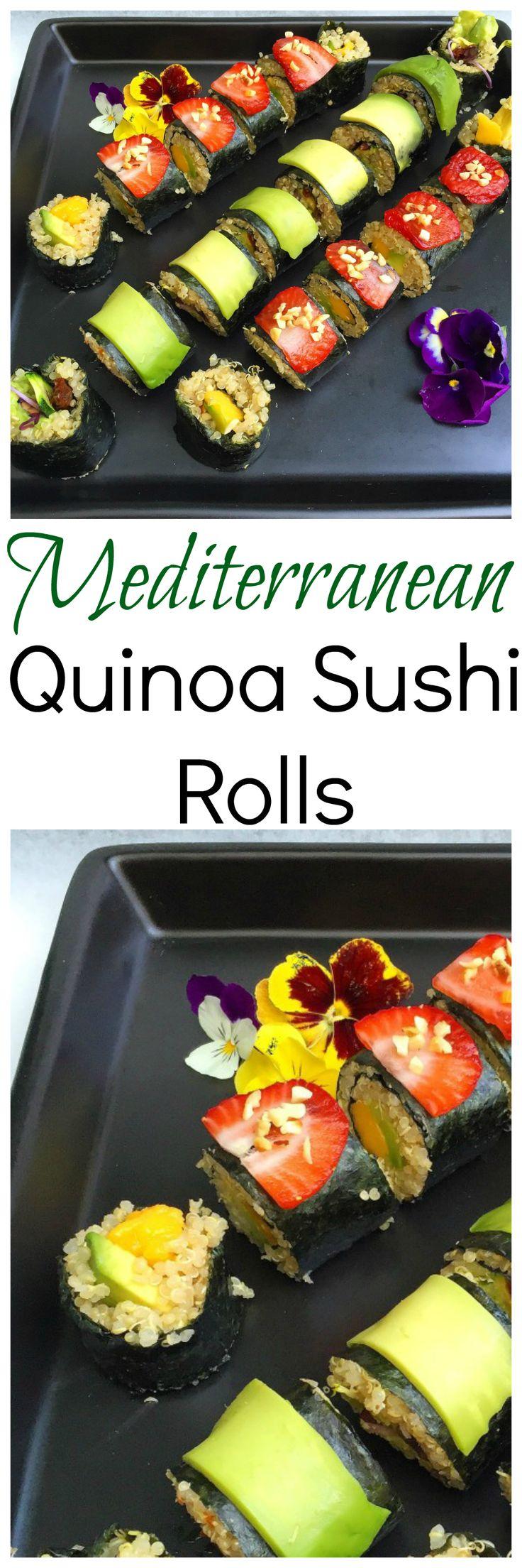 Mediterranean Quinoa Sushi Rolls Vegan