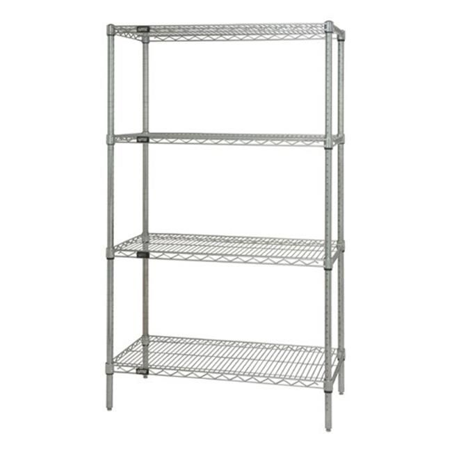Quantum Storage Wr63 2448c Wire 4 Shelf Starter Unit 44 48 X 24 X 63 In Wire Shelving Wire Shelving Units Shelving