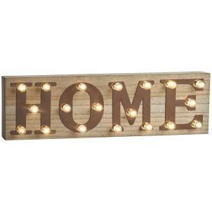 Retro illuminated HOME sign