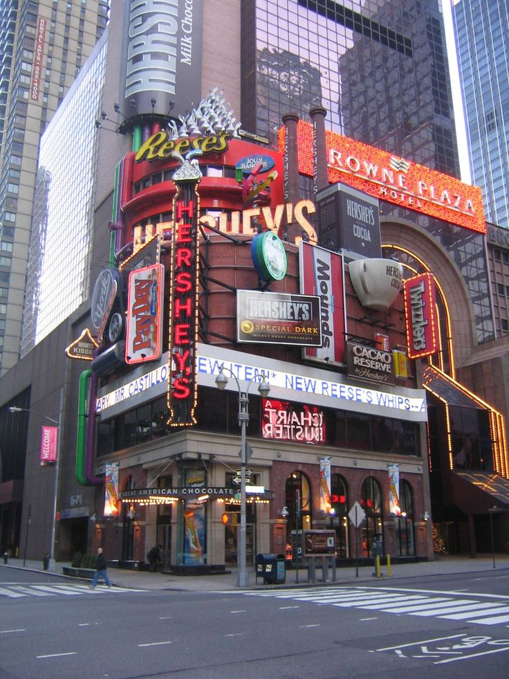The Hershey's Chocolate World store in Times Square, New