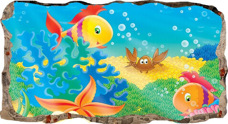 How to instal 3DMURAL004 Startonight 3D Mural Wall Art Aquatic Window wi...