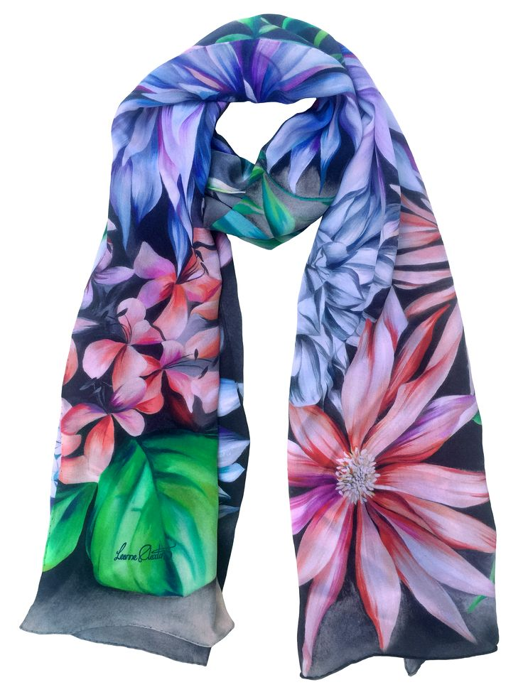 Shop the 'Ruben' Luxury Silk Long Scarf online. All Leanne Claxton scarves are taken from a series of oil painted canvases by the artist, which are digitally transformed and printed onto 100% silk. View our Winter 2016 Digital collection, available in a range of colours, styles and sizes, at www.leanneclaxton.com