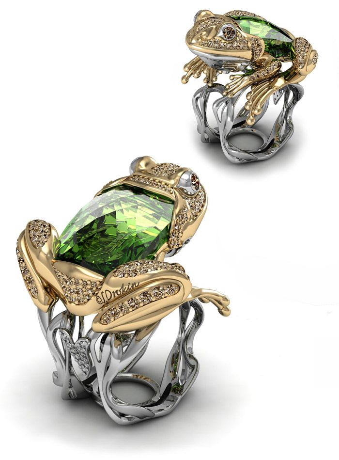 Stanislav Drokin Frog ring that won an award in Basel in 2014