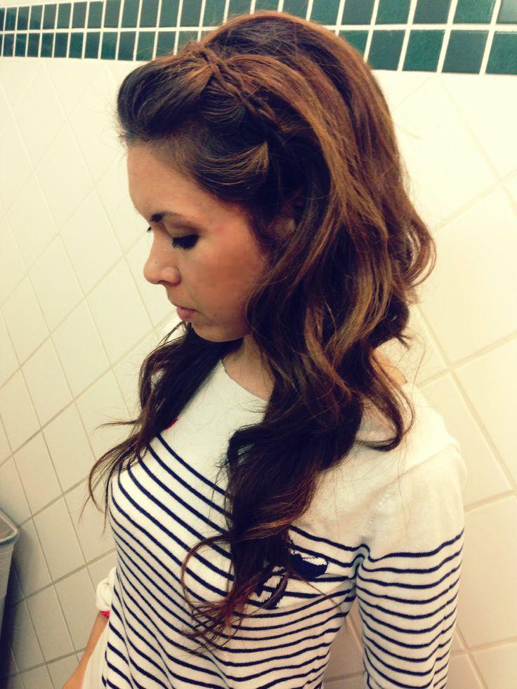 headband braid with curls - photo #2