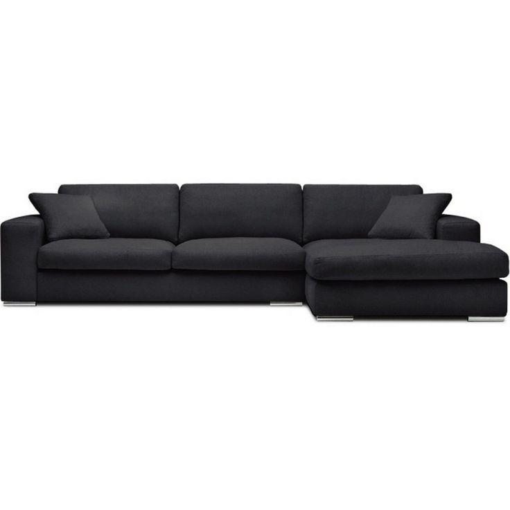 Canapé d'angle tissu Bianca gris foncé