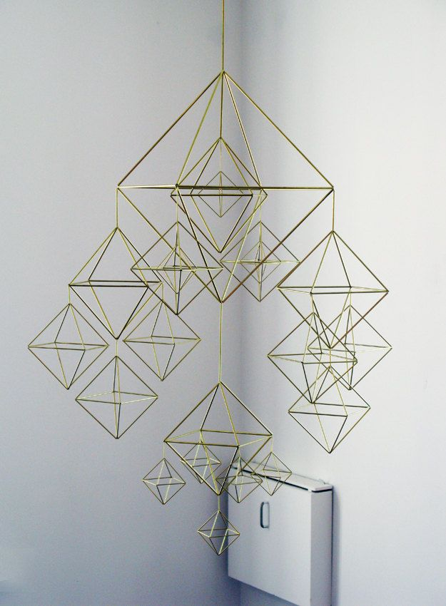 Stunning HIMMELI - brass mobile. $550.00, via Etsy.