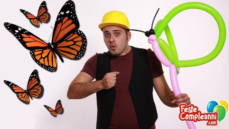 Balloon art tutorial, How to make a flying Butterfly with balloon art. Balloon toys, balloon for kids, palloncino farfalla, palloncini modellabili.  Impariamo a costruire una bellissima farfalla con i palloncini, un originale gioco da regalare alle vostre bambine.
