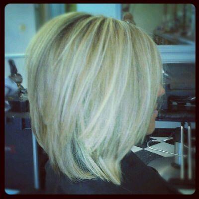 Long stacked bob...love! | Hair