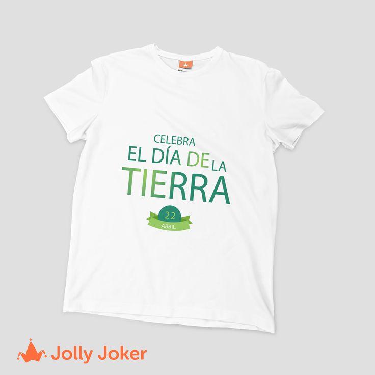Celebra el día de la tierra todos los días y estampa tus camisetas personalizadas :) Entra a nuestro diseñador y crea las mejores camisetas