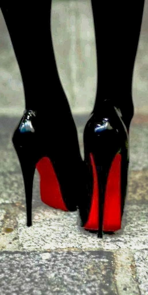0e6821687a2d Christian Louboutin classic black high heels. Complete Sexy Bodystocking  Look