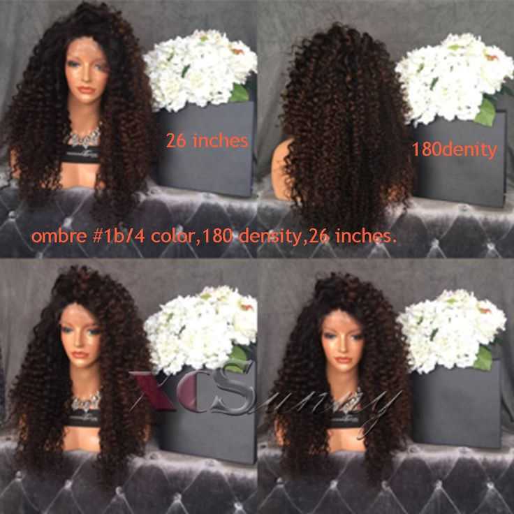 Find More Human Wigs Information about XCSUNNY 180 Density Glueless Full Lace Human Hair Wigs Soft Loose Curly Lace Front Human Hair Wigs #1b/4 color Ombre Human Hair ,High Quality wig afro,China wig remy hair Suppliers, Cheap hair salon wall decals from xcsunny wigs on Aliexpress.com