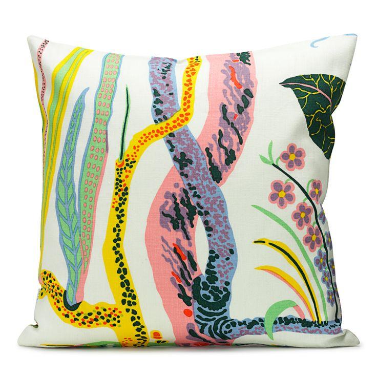 svenskt tenn: Colors Combos, Living Rooms, Hawaii Cotton, Accent Pillows, Josef Frank, Interiors Design, Svenskt Tenn, Tenn Cushions, Cushions Hawaii