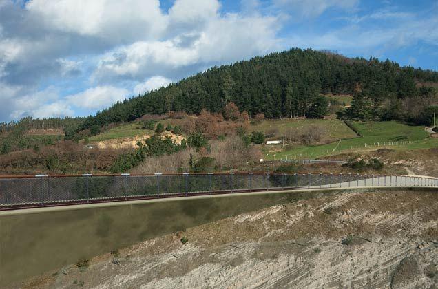 Camino Santiago Footbridge over Highway A-8 in Orio by ANTA