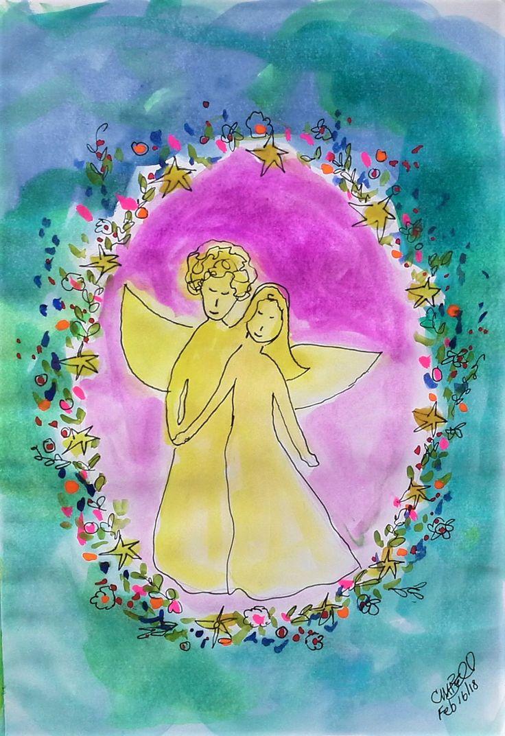 Soul Angels - Daily sketchbook Cindy M. Bell