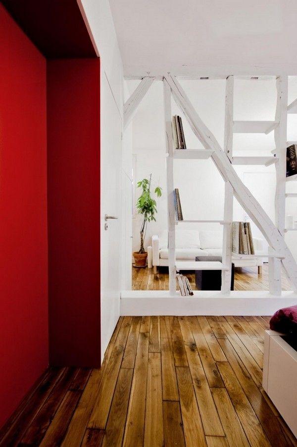 파리에 있는 7평 레드&화이트 원룸 인테리어 :: 라이프 스타일을 디자인하다 :: EUNYU