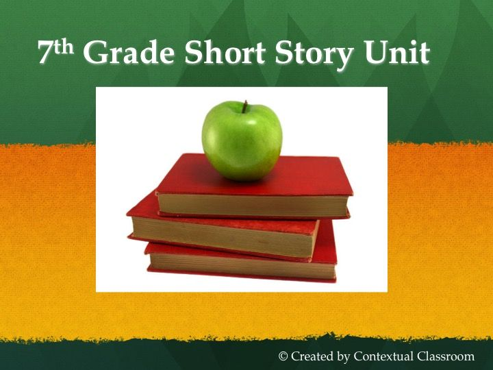 Short stories written by 7th grade students?