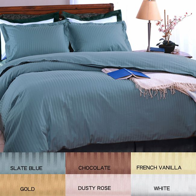 enhance the decor of your bedroom with this striped cotton duvet set this 100 percent
