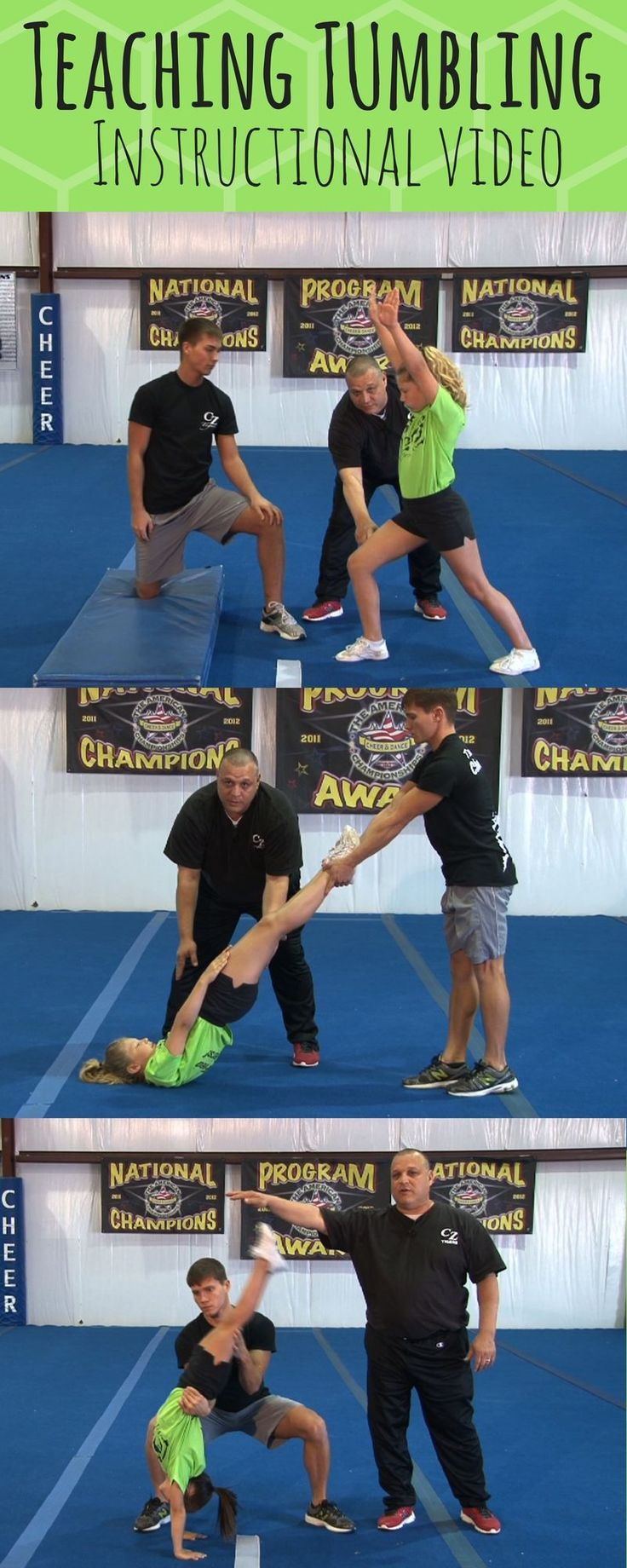 pros guid to tumbling for cheerleading back tuck