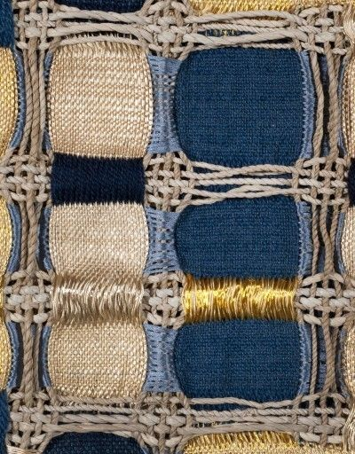Maria Davila & Eduardo Portillo, Mosaico, 2013 (Detail) ~Made from silk, moriche palm fiber, wool, copper yarn / Paddle8