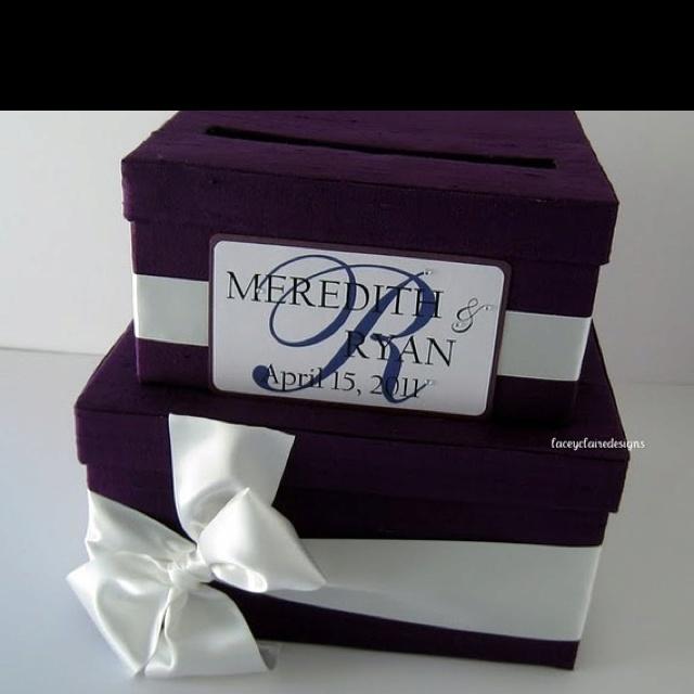 Two tier wedding card holder box!