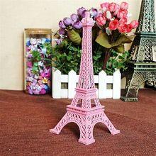 18 cm Color de París Torre Eiffel de Metal Artesanía Estatua Estatuilla Europa Home Decors Souvenir Regalo de Cumpleaños de La Boda B(China (Mainland))
