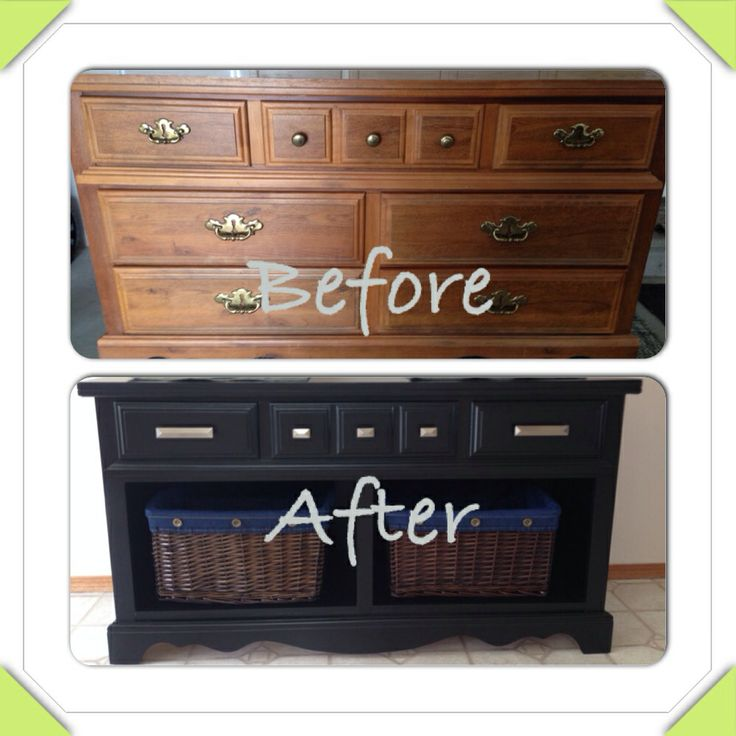 Old Dresser Turned Into Buffet Side Table Diy Projects