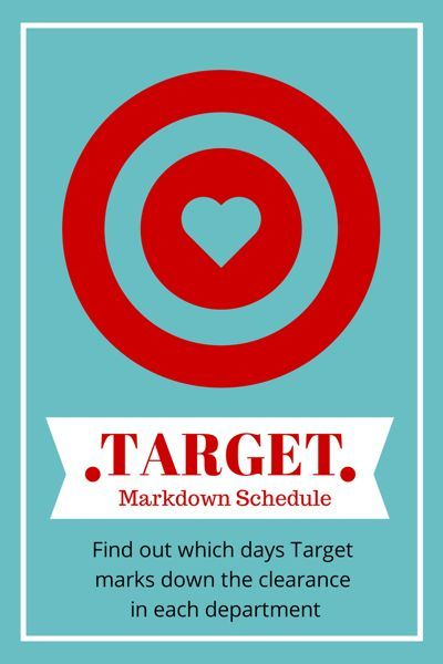 Target clearance schedule!