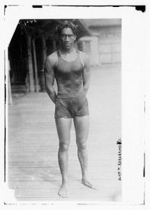 Born in 1890, Kahanamoku began breaking swimming records in Honolulu in 1911, and won Olympic gold medals in 1912 and 1920. While he gained worldwide recognition for his swimming prowess, Duke (his real first name, not a royal title) was also a great surfer and acted as the first ambassador of surfing to the world.