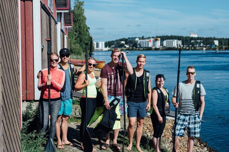 SUP-COURSES & -TOURS IN JOENSUU     Enjoy the beautiful Finnish nature Joensuu is one of the greatest places in Finland to do Stand Up Paddling thanks to our various lakes, rivers and channels. We arrange courses and tours in the most beautiful spots around Joensuu