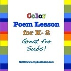 Have your students write interesting 5 Line Color Poems. Create a class collection of their poems so they can be read over and over.   Example poem...