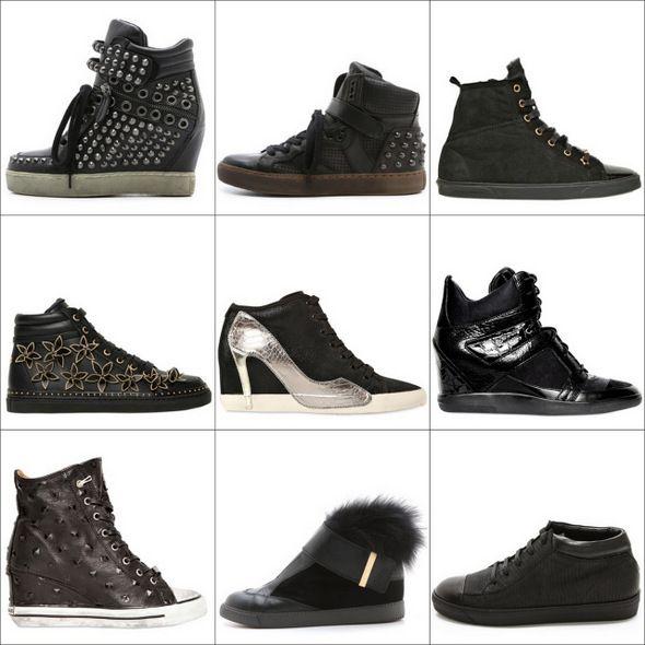 Черные кроссовки и кеды