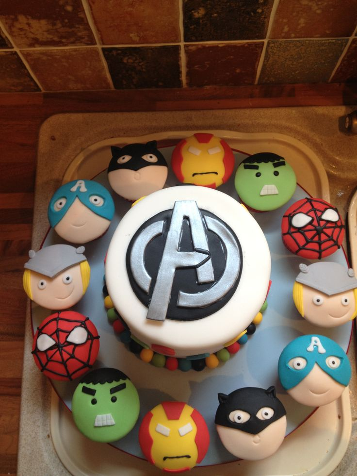 Large Avengers Birthday Cake Image Inspiration of Cake and