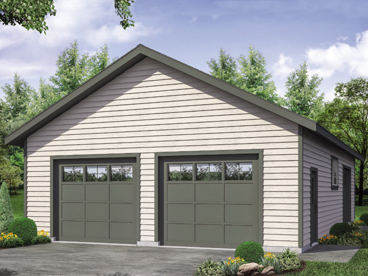 051g 0121 Unique Garage Plan Offers 2 Front Entry Bays And One On The Side 28 X44 Large Garage Plans Garage Plans Garage Floor Plans
