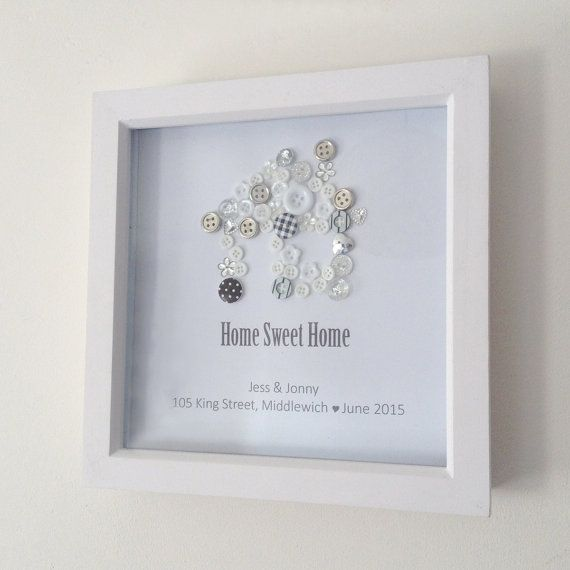 Personalised Home Is Where New Home Gift Print By: Home Sweet Home Personalised Button Print