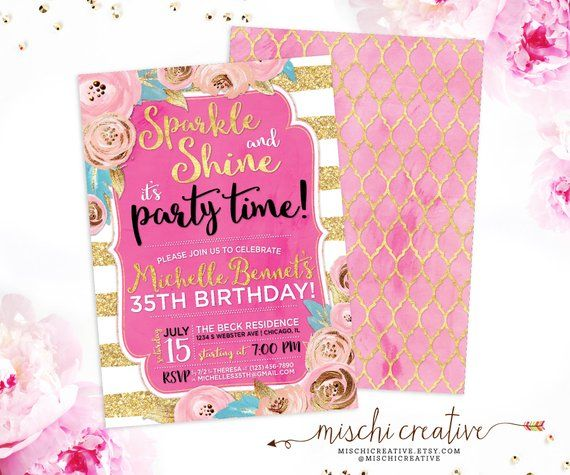 35th birthday invitation for women
