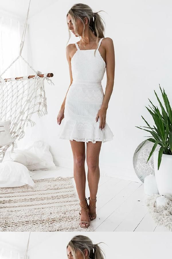 Vestidos de festa sem encosto da Vogue de venda quente, vestidos de festa de renda branca, vestidos de baile brancos, vestidos de baile de renda   – smart women