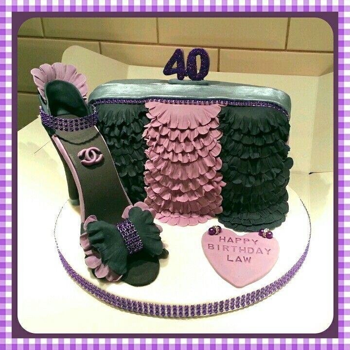 Designer shoe & bag cake
