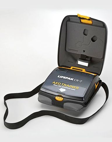 Physio-Control AED completes state-of-the-art training system.  Mimics semi-automatic and fully automatic shock delivery.