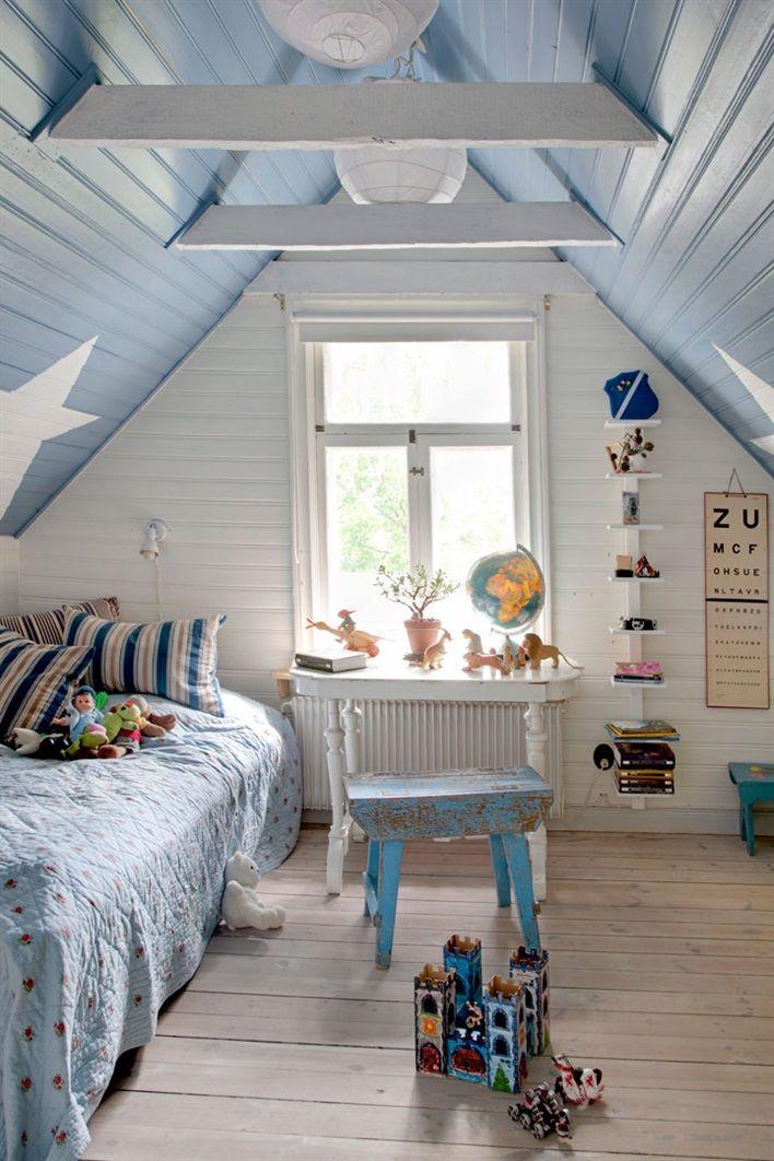 { Today I ♥ } Les murs étoilés dans la chambre des enfants