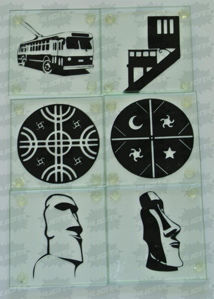 Chilean icons coasters