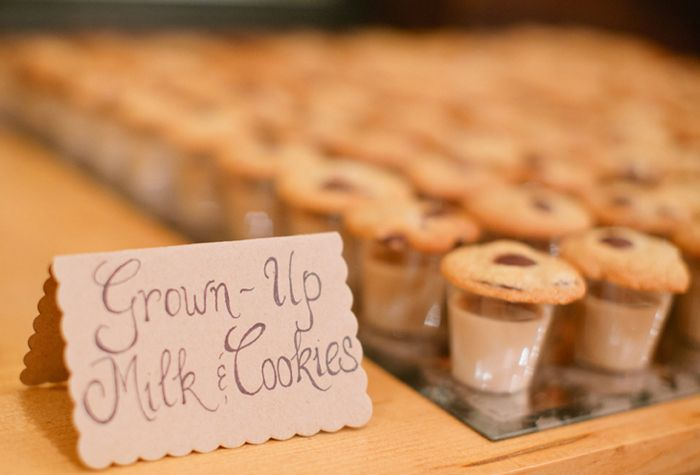 Grown-Up Milk & Cookies - Shots of Kahlua with Milk and Chocolate Chip Cookies!