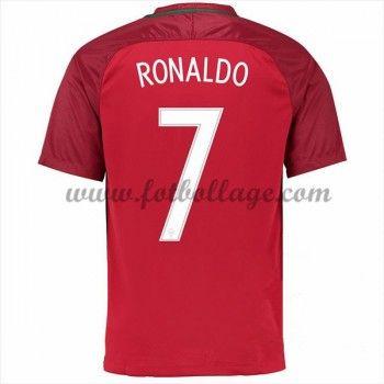 Portugal Landslagströja 2016 Cristiano Ronaldo 7 Hemma Tröjor