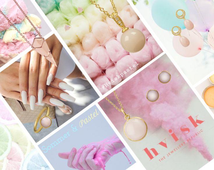 Pastelfarver går aldrig af mode! Så denne sommer vil der blive sat fokus på det feminine og de sødeste candy-farver! #Hvisk #hviskstylist #Hviskpastel