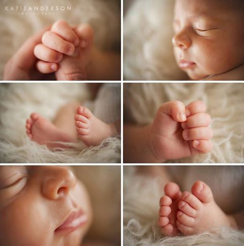 Newborn baby details - great for using on your baby announcement