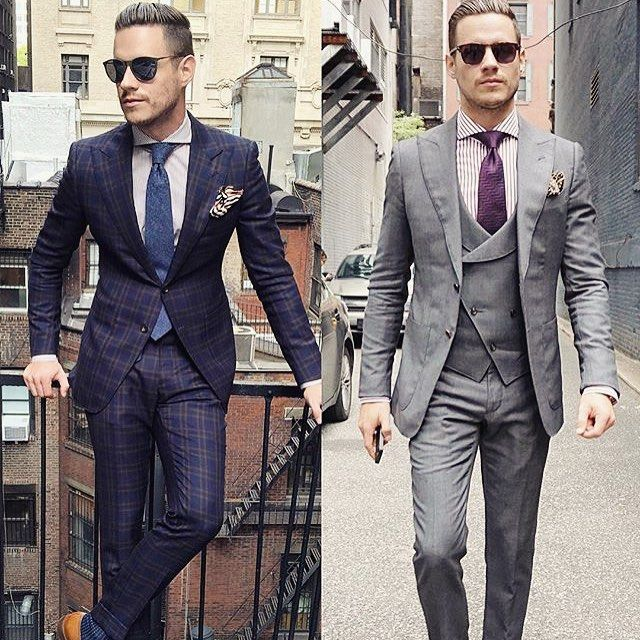 Two great suits by @aleksmusika Which one would you wear? #mensfashion_guide