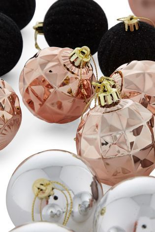 Set Of 20 Copper & Black Baubles from Next - ooo you could change your tree XD