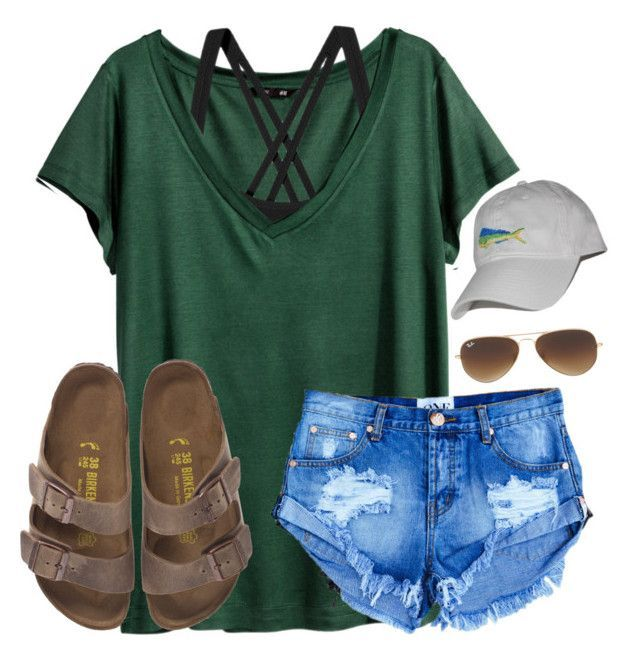 """""""I have 39 completed drafts"""" by lydia-hh ❤ liked on Polyvore featuring H&M, Patagonia, Birkenstock and Ray-Ban #casualsummeroutfits"""